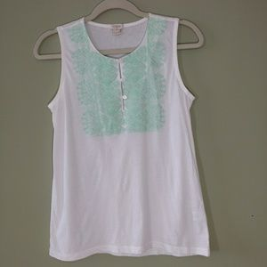 J.Crew Factory XS Embroidered Tank.